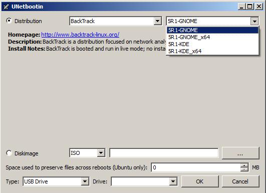 Unetbootin Live USB Installer