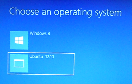 Windows 8 Boot Manager menu