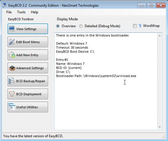 Windows 7 EasyBCD