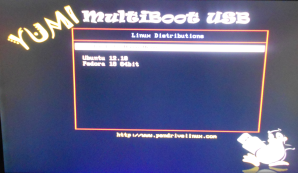 YUMI Linux USB multiboot Linux USB key