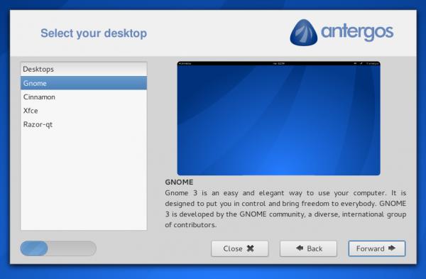 Antergos Cnchi installer Linux