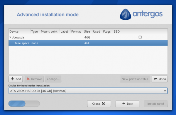 Antergos Manual disk partitioninstall2