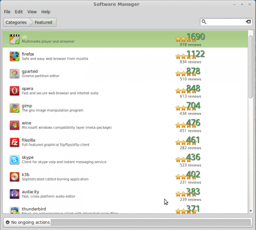Linux Mint 15 Software Manager