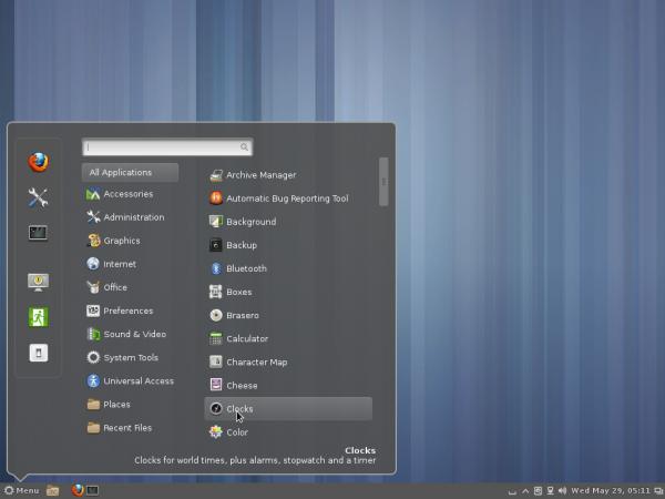Fedora 19 Cinnamon 1.8