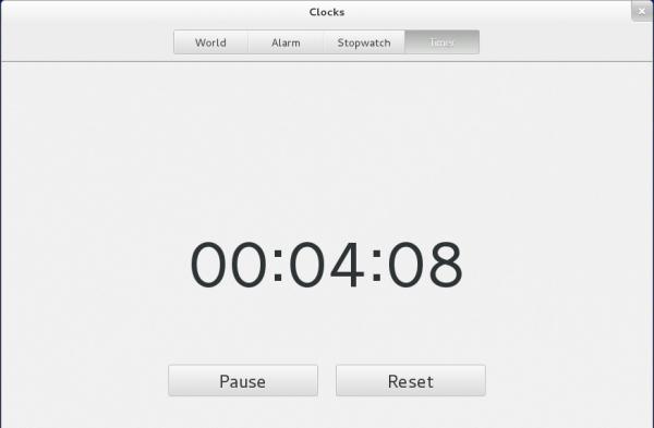 Fedora 19 GNOME 3 Clock Timer