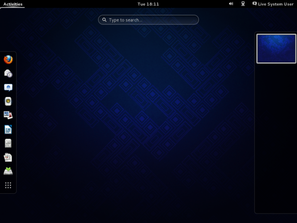 Fedora 19 GNOME 3 Activities