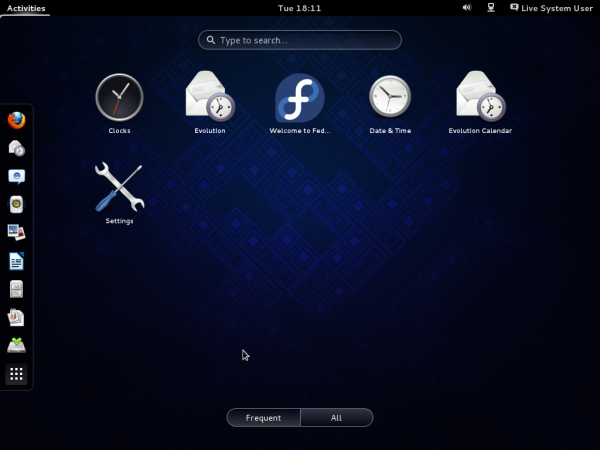 Fedora GNOME 3 Favorite Apps