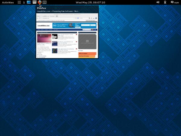 GNOME 3 Taskbar thumbnail Debian 7 Wheezy