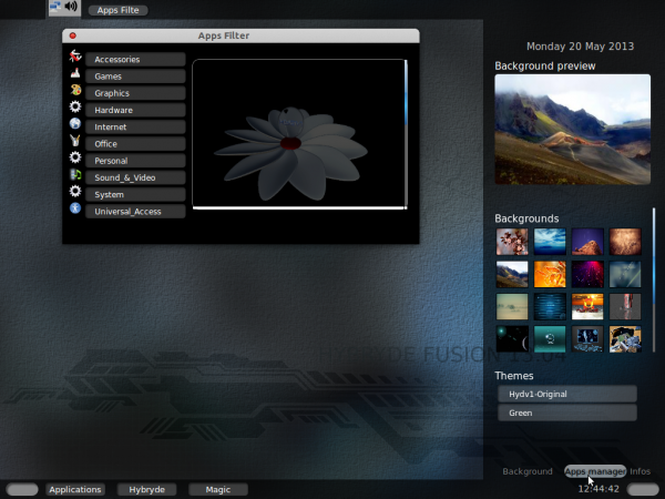 Hybryde Fusion Hydv1 desktop Hy-D-V1 appsfilter