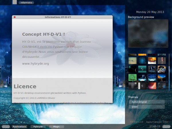 Hybryde Hy-D-V1 desktop Linux