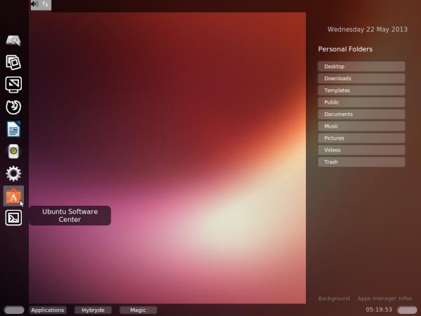 Ubuntu 13.04 HY-D-V1 desktop