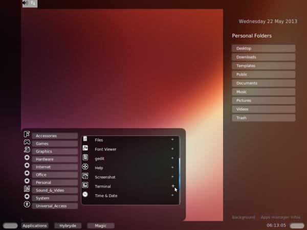 Hybryde Fusion Ubuntu 13.04