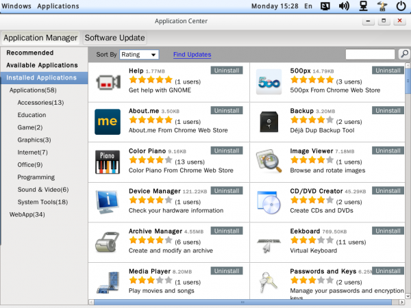 Linpus Lite 1.9 App Center