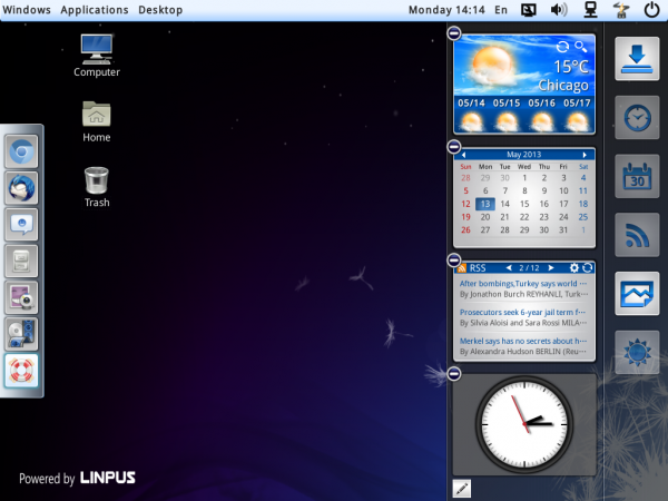 Linpus Lite Desktop widgets edit
