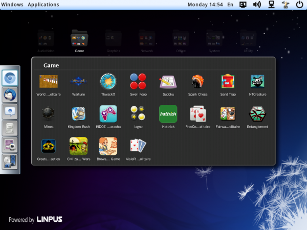 Linpus  Lite 1.9 App Category