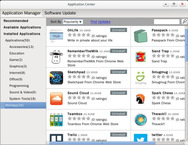 Linpus Lite 1.9 WebApps Web Applications