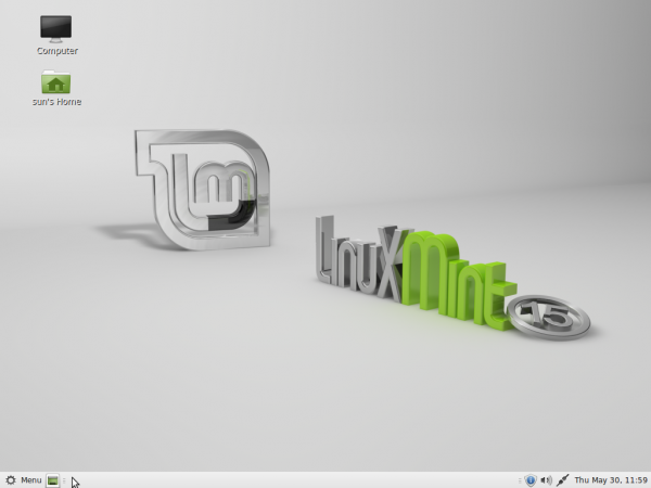 Linux Mint 15 MATE Desktop