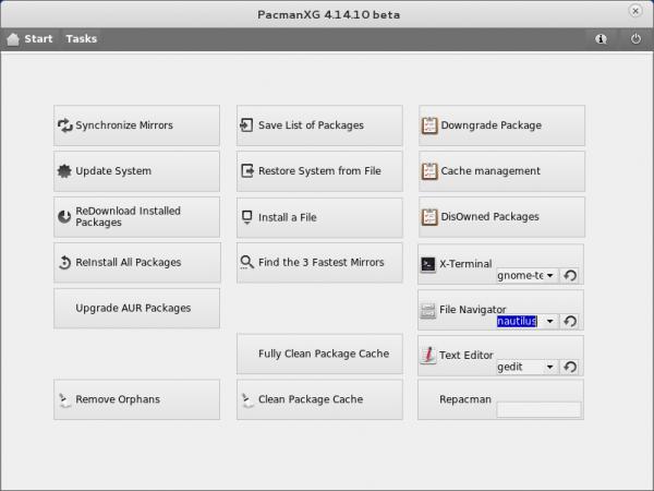Antergos PacmanXG Arch Linux