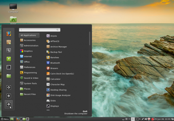 Linux Mint 15 Cinnamon Desktop