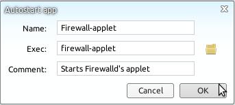 Linux Deepin 12.12 Auto-start firewall-applet firewalld