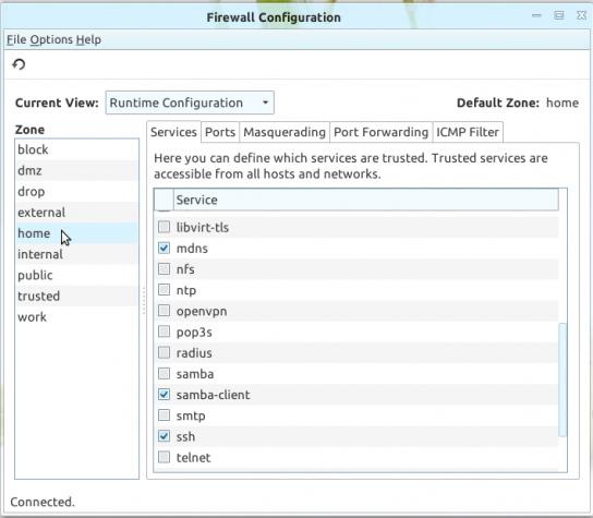 Firewalld firewall-applet Linux Deepin 12.12