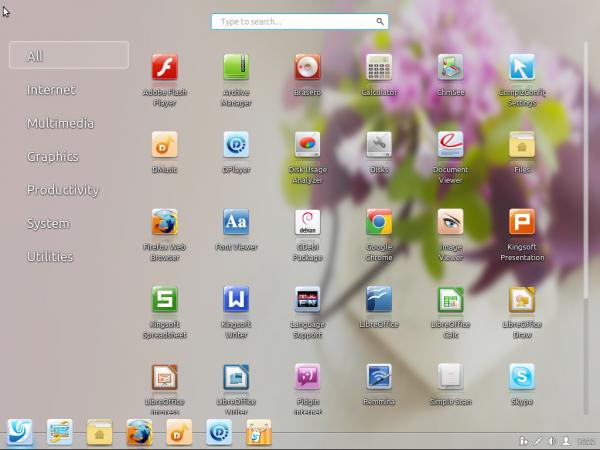 Linux Deepin 12.12 Hot Corner
