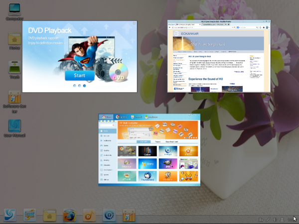 Linux Deepin 12.12 review Hot Corner