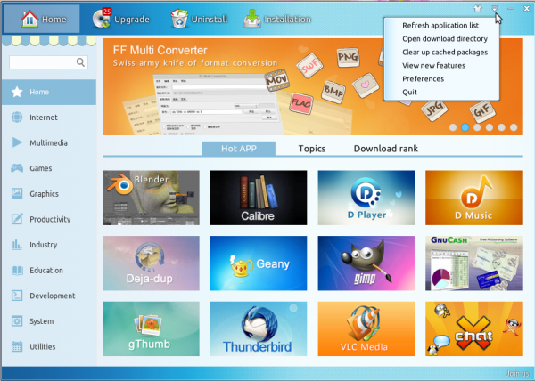 Linux Deepin 12.12 review Software Center