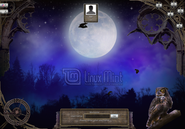 HTML Fullmoon Login screen