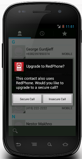 RedPhone PRISM Boundless Informant