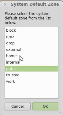 Firewalld install Linux Mint 15 firewall zones
