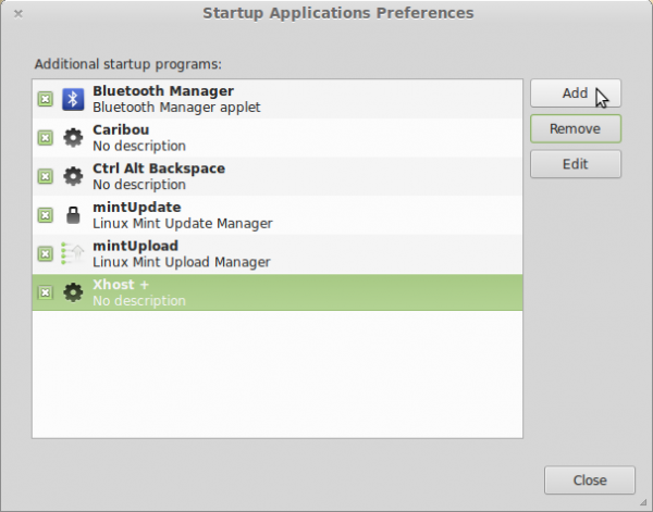 Linux Mint 15 auto-start applications