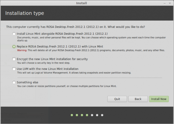 Linux Mint 15 Install LVM disk encryption