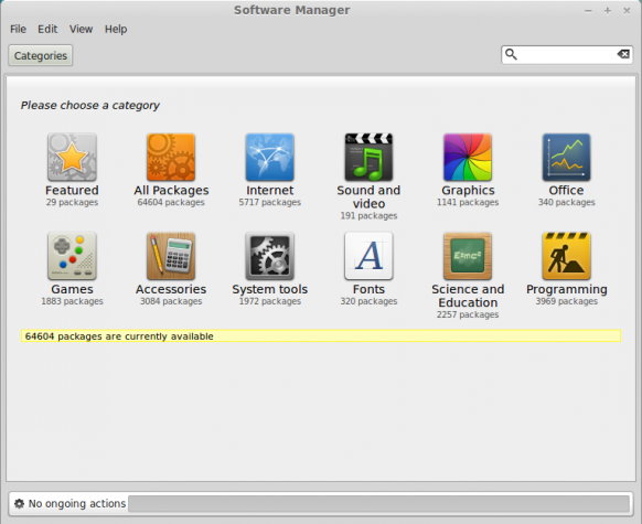 Linux Mint 15 review Software manager