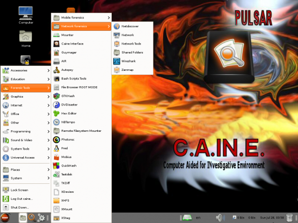 CAINE 4 Pulsar. Digital forensics
