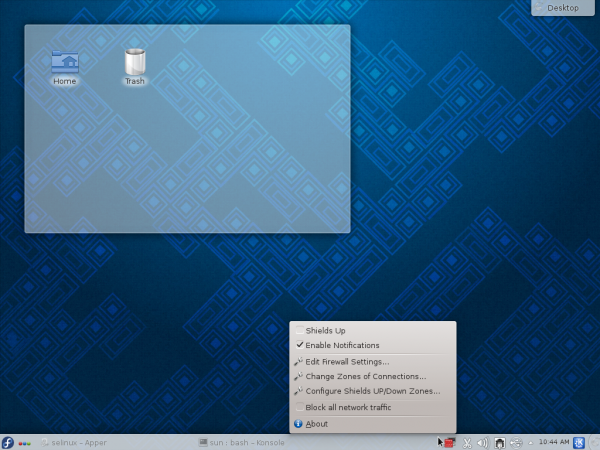 Firewall-applet Fedora 19 KDE