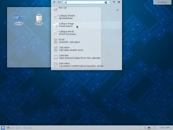 KDE Runner Alt F2 Fedora 19 KDE