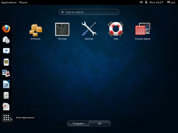 GNOME 3 Classic App Picker