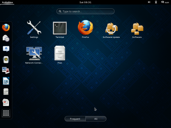 Fedora 19 review GNOME 3 Desktop GNOME Shell favorite apps