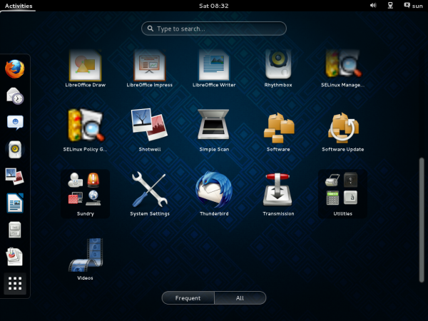Fedora 19 review GNOME 3 Desktop GNOME Shell app picker