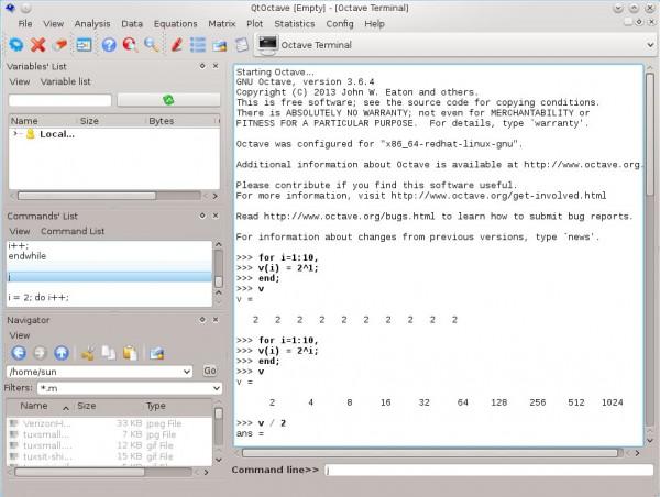 QtOctave Octave IDE