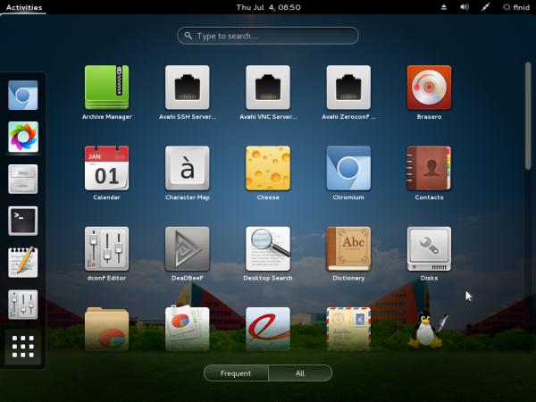 StartOS 6 GNOME 3 apps