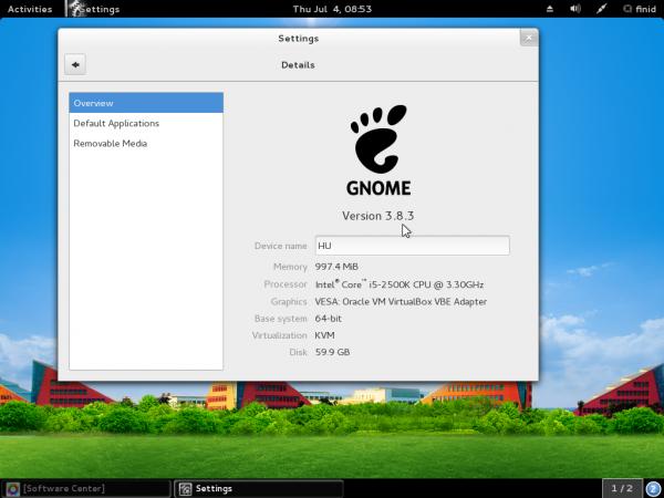 StartOS 6 GNOME 3 system info