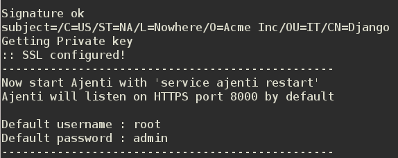 How to install Ajenti on Ubuntu 13.04 server