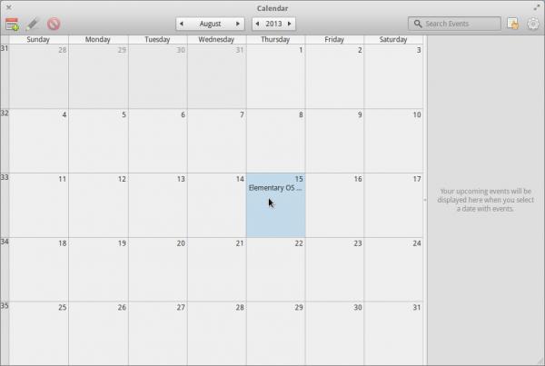 Elementary OS Luna Calendar Linux
