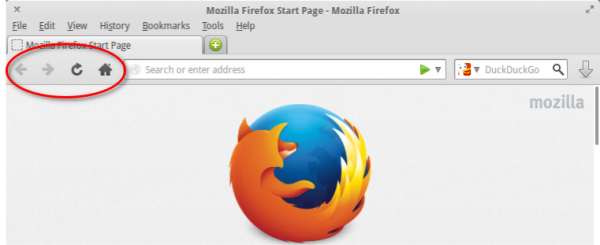 custom Firefox toolbar Linux
