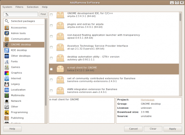 Parsix 5 Linux App Manager gpk-application packagekit