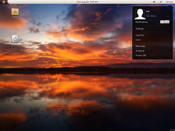 Parsix 5 Linux GNOME default Desktop