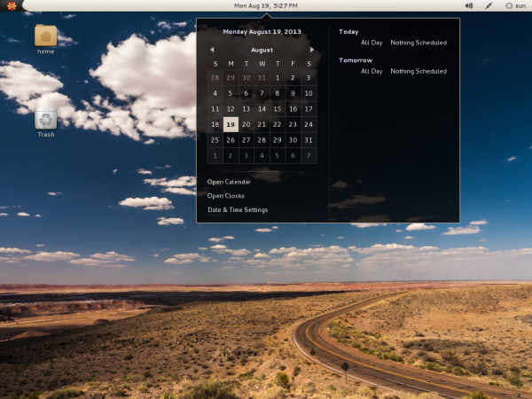 Parsix 5 Desktop calendar