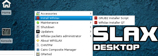 wifislax Installation boot loader GRUB